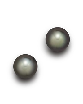 Tara Pearls - Tara Pearls 18K White Gold Tahitian Cultured Pearl Stud Earrings, 11-12mm