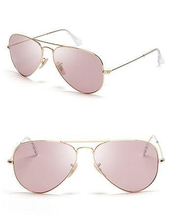 Ray-Ban - Polarized Classic Aviator Sunglasses, 58mm