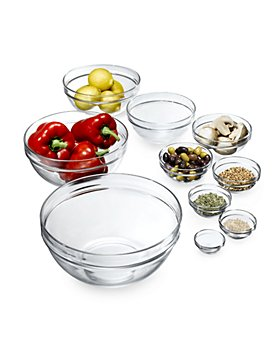 Luminarc - 10-Piece Stackable Bowl Set