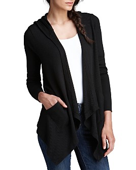 Splendid - Hooded Drapey Front Thermal Cardigan