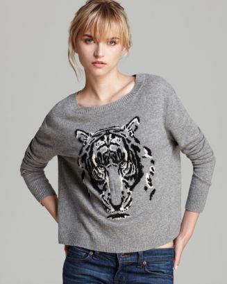 Autumn Cashmere Sweater Leopard Intarsia | Bloomingdale's