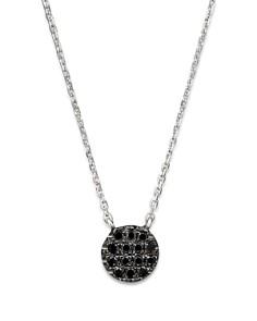 "Dana Rebecca Designs - Black Diamond Lauren Joy Mini Necklace in 14K Black Rhodium on 14K White Gold Chain, 16"""