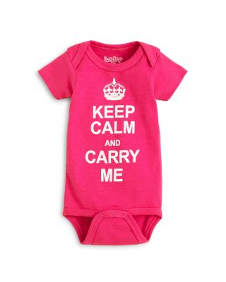 $Sara Kety Girls' Keep Calm Bodysuit - Baby - Bloomingdale's