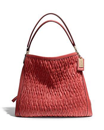 Coach Madison Phoebe Shoulder Bag In Gathered Twist Leather
