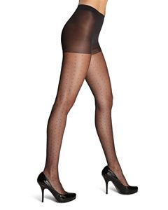 2eb981571a69a HUE French Lace Control Top Sheer Tights | Bloomingdale's