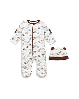 0015ae44cc4 Little Me - Boys  Puppy Print Footie   Hat - Baby ...