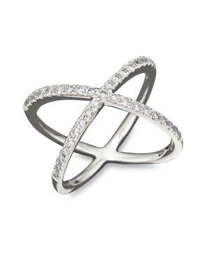 Diamond X Band in 14K White Gold, 0.40 ct. t.w.