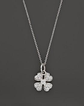 KC Designs - Diamond Clover Pendant Necklace in 14K White Gold, .14 ct. t.w.