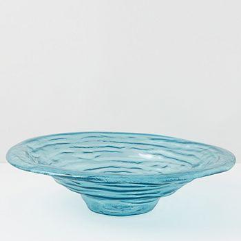 Annieglass - Ultramarine Large Rimmed Serving Bowl