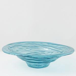 Annieglass Ultramarine Large Rimmed Serving Bowl