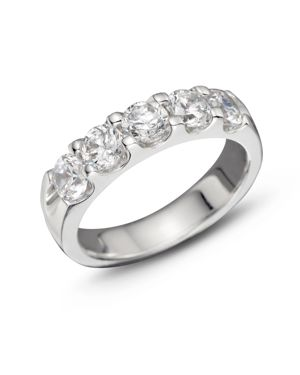 Certified Diamond 5 Station Band in 18K White Gold, 1.50 ct. t.w. - 100% Exclusive