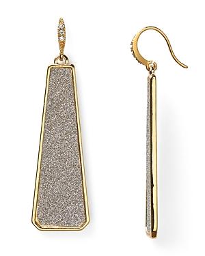 Abs by Allen Schwartz Glitter Linear Earrings