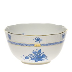 Herend - Chinese Bouquet Blue Round Bowl