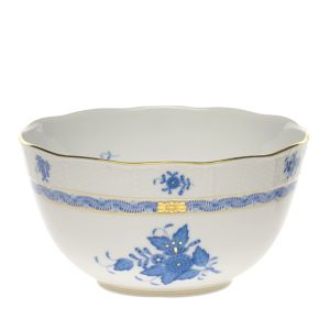 Herend Chinese Bouquet Blue Round Bowl