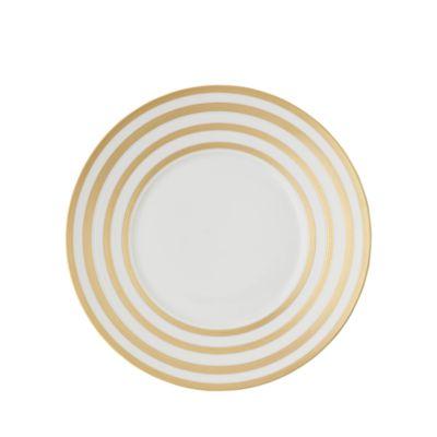 $JL Coquet Hemisphere Dessert Plate, Gold Stripes - Bloomingdale's