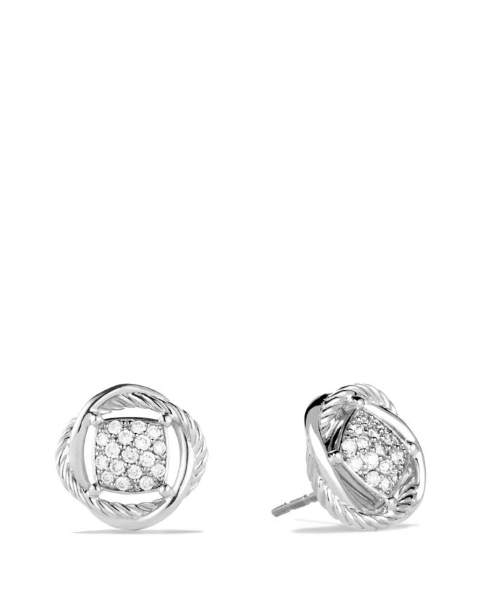 David Yurman Infinity Earrings with Diamonds  | Bloomingdale's