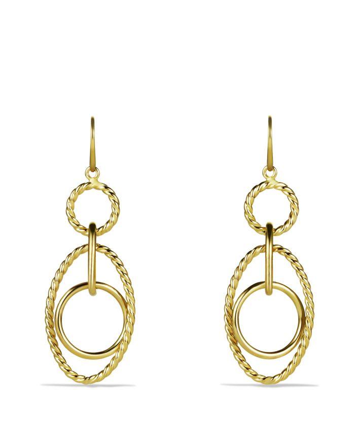 David Yurman Mobile Small Link Earrings in Gold  | Bloomingdale's