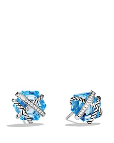 David Yurman Cable Wrap Earrings with Gemstone and Diamonds - Bloomingdale's_0