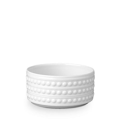 """L'Objet - Perlee White 3"""" Vertical Bowl"""