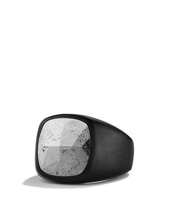 David Yurman - Signet Ring with Meteorite