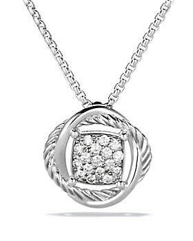 David Yurman - Infinity Pendant Necklace with Diamonds