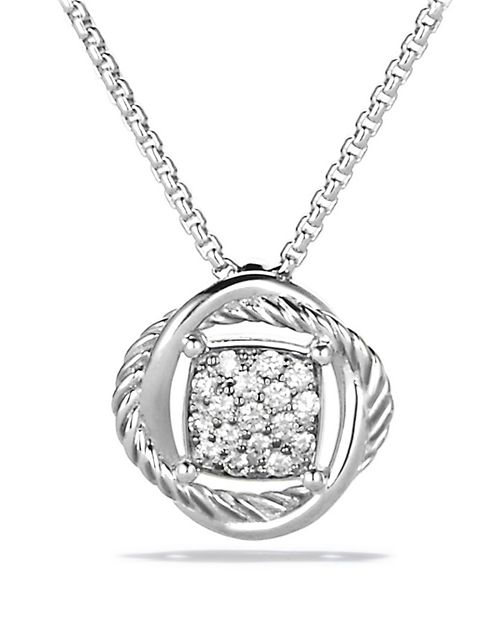 David Yurman - Infinity Pendant with Diamonds on Chain