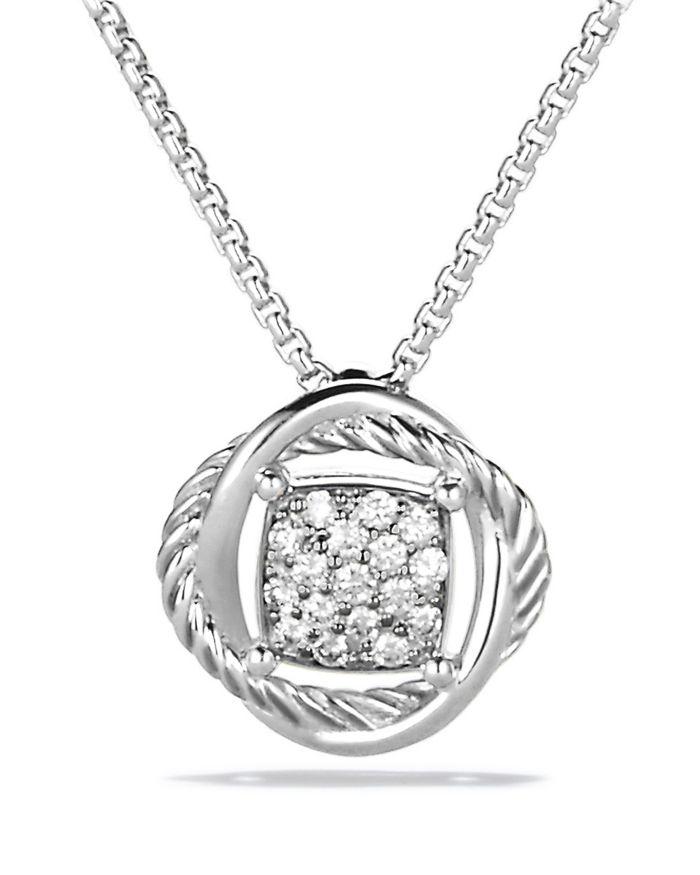 David Yurman Infinity Pendant Necklace with Diamonds    Bloomingdale's