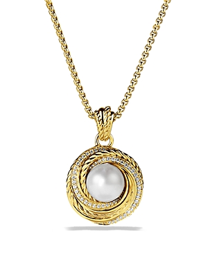Click here for David Yurman Pearl Crossover Pendant with Diamonds... prices