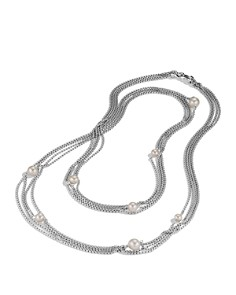David Yurman - Four-Row Chain Necklace with Pearls