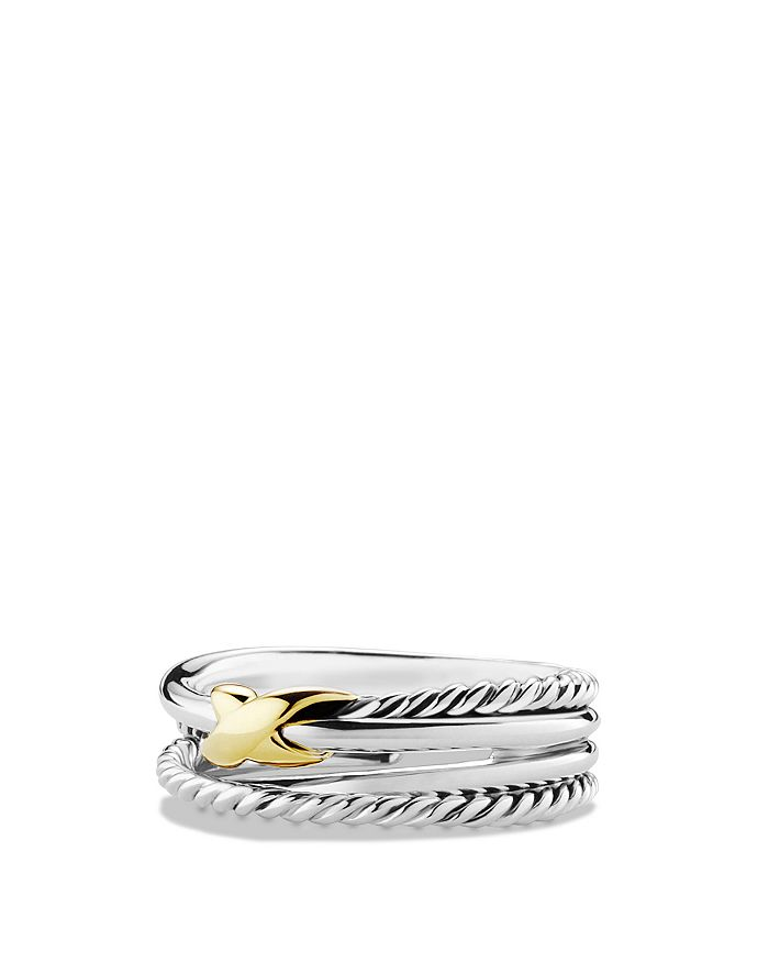 David Yurman - X Crossover Ring with 18K Gold