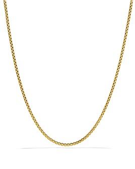"""David Yurman - Small Box Chain in Gold, 18"""""""