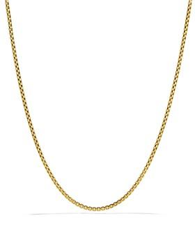 David Yurman - Small Box Chain in Gold