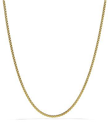 """David Yurman - Small Box Chain in Gold, 72"""""""