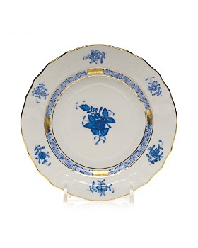 Herend - Chinese Bouquet Blue Bread & Butter, 6""