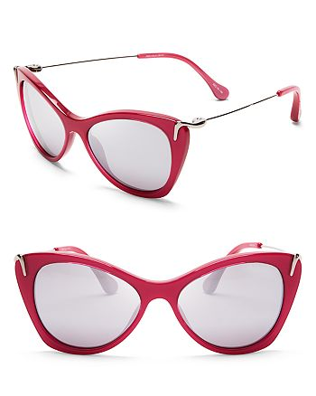 Elizabeth and James - Women's Fillmore Mirrored Cat Eye Sunglasses