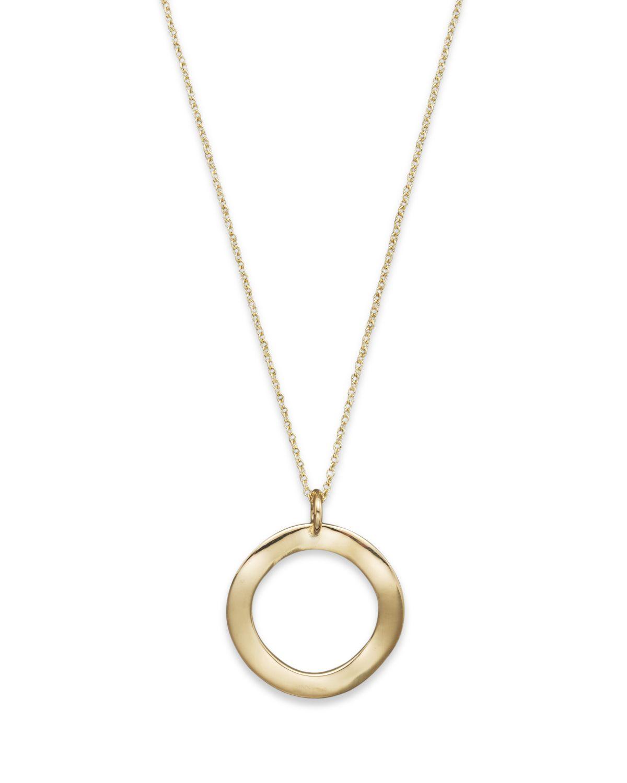 Ippolita Mini Wavy Circle Pendant Necklace LdGJkA8a