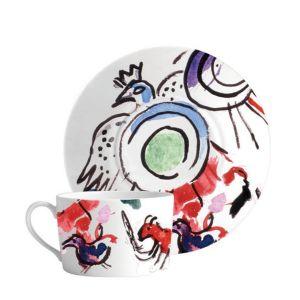 Bernardaud Marc Chagall Joseph Tribe Breakfast Cup & Saucer