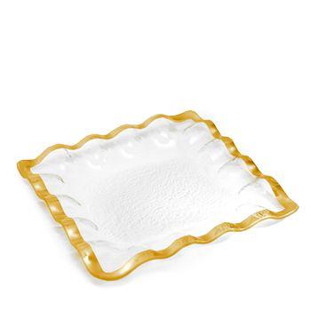 Annieglass - Ruffle Square Platter