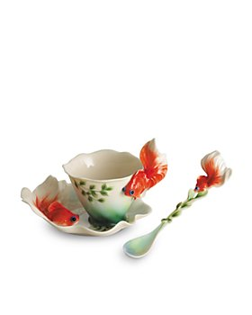 Franz Collection - Franz Collection Goldfish Cup & Saucer with Spoon