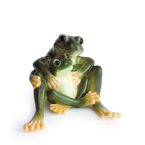 Franz Collection - Amphibia Frog Mother & Daughter Figurine