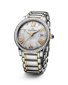 David Yurman Classic 38mm Stainless Steel Quartz with Diamond Bezel & Gold - Bloomingdale's_0