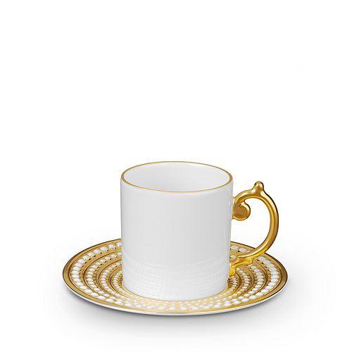 L'Objet - Perlee Gold Espresso Cup & Saucer