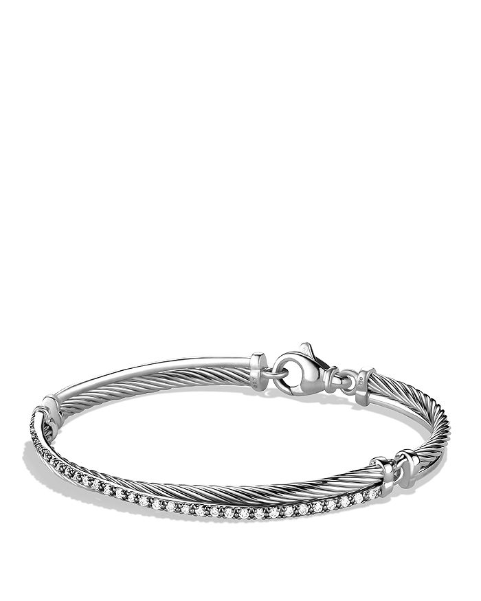 David Yurman - Crossover Bracelet with Diamonds
