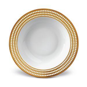 L'Objet Perlee Gold 14 Round Serving Bowl