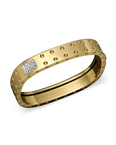 Roberto Coin 18K Yellow Gold Pois Moi Double Row Diamond Bangle - Bloomingdale's_0