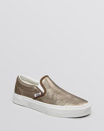 Vans - Flat Slip-On Sneakers - Classic Metallic