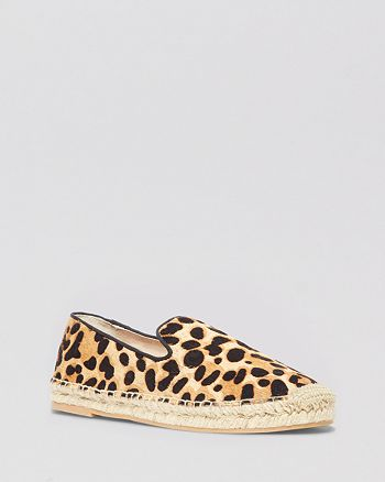 STEVEN BY STEVE MADDEN - Espadrille Smoking Flats - Lanii Leopard Smoking Shoe