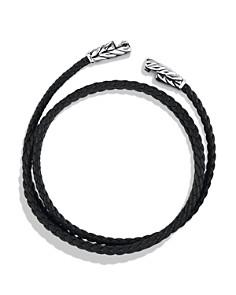 David Yurman - Chevron Triple-Wrap Bracelet in Black