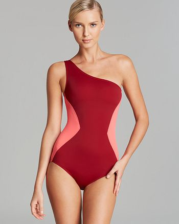 MARC BY MARC JACOBS - Kite Appliqué One-Shoulder Maillot One-Piece Swimsuit