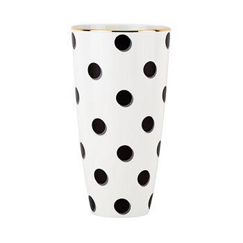 "kate spade new york - Daisy Place Dots Vase, 9"""